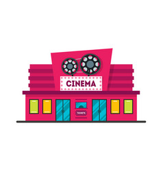 cartoon cinema building vector image