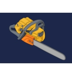 chainsaw isometric flat 3d vector image
