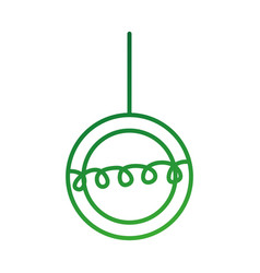 christmas beautiful ball hanging decoration vector image