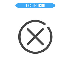close icon delete icon vector image