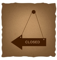 Closed sign vintage effect vector
