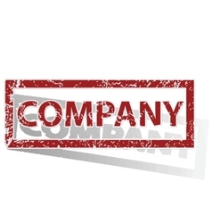 Company outlined stamp vector