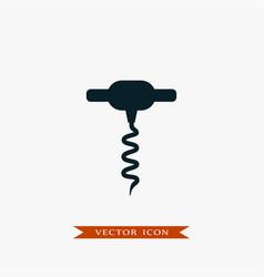 corkscrew icon simple drink vector image vector image
