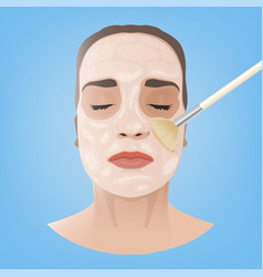 Cosmetological face image vector