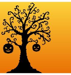 decorative Halloween tree vector image
