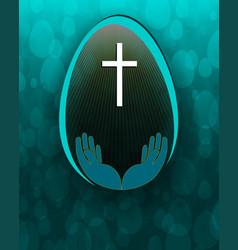 design with easter egg vector image vector image