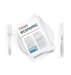 economic news tablewares vector image