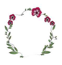 Floral wreath flowers decoration image vector