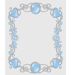 Gemstone frame vector