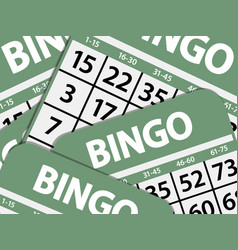 Green bingo cards background vector