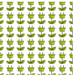 Green power energy with leaves background vector