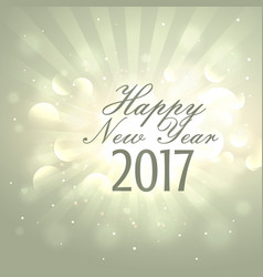 Happy new year 2017 background with light effects vector