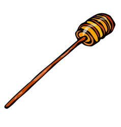 honey stick dipper sketch hand drawn vector image