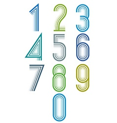 Inner echo lined numbers set vector