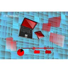 it tecnology vector image vector image