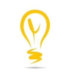 Light bulb icon idea symbol sketch in vector