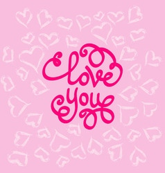 love you hearts around vector image