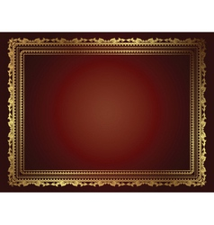 luxury frame vector image vector image