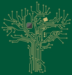 Motherboard tree vector