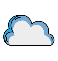 nice cloud nature weather icon vector image vector image
