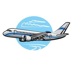 Passenger airplane vector