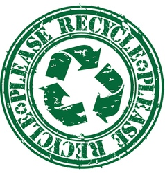 Please recycle stamp vector image vector image