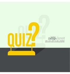 Quiz background vector image