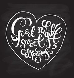 Romantic quote good night sweet dreams vector