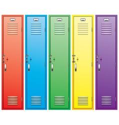 School lockers vector