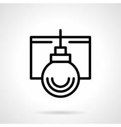 Simple black line Xmas bauble icon vector image vector image