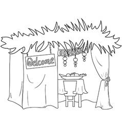 Sukkah For Sukkot Coloring Page vector image vector image