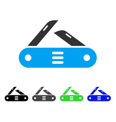 Swiss multitool knife flat icon vector