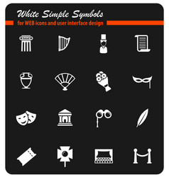 theatre simply icons vector image vector image