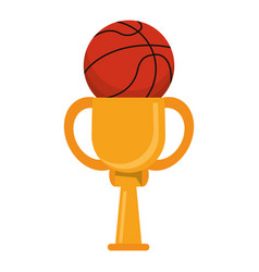 Trophy ball basketball winner vector