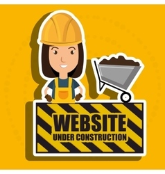 woman website under construction avatar vector image