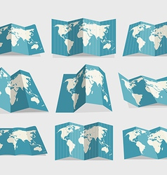 World map collection vector image vector image