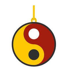 Ying yang symbol of harmony and balance icon vector