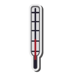 Analog medical thermometer icon vector