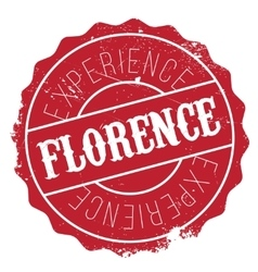 Florence stamp rubber grunge vector