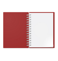 Realistic notebook on white background design vector