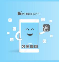 Smartphone concept of online app market purchase vector