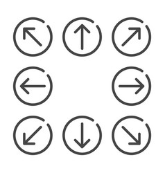 Arrow flat icon set vector