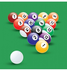 pool balls illustration vector image