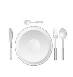 Dinner service vector