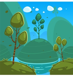 Fantasy cartoon landscape vector