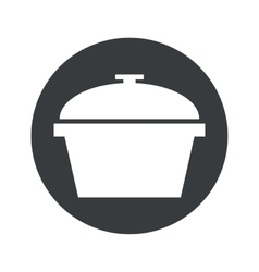 Monochrome round pan icon vector
