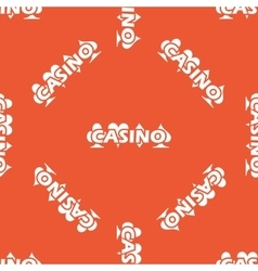 Orange casino pattern vector