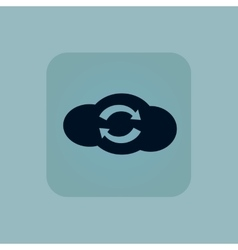 Pale blue cloud exchange icon vector