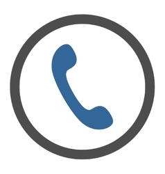 Phone flat cobalt and gray colors rounded vector