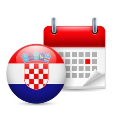 Icon of national day in croatia vector